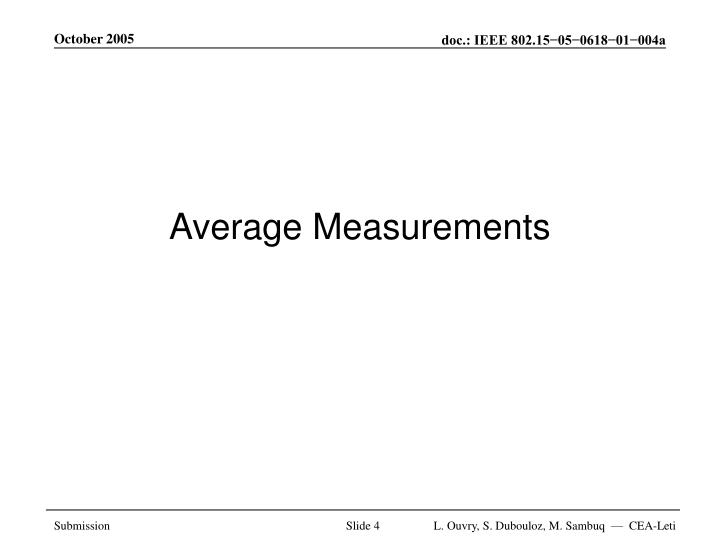 Average Measurements