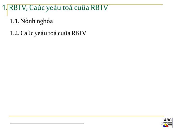 1. RBTV, Caùc yeáu toá cuûa RBTV