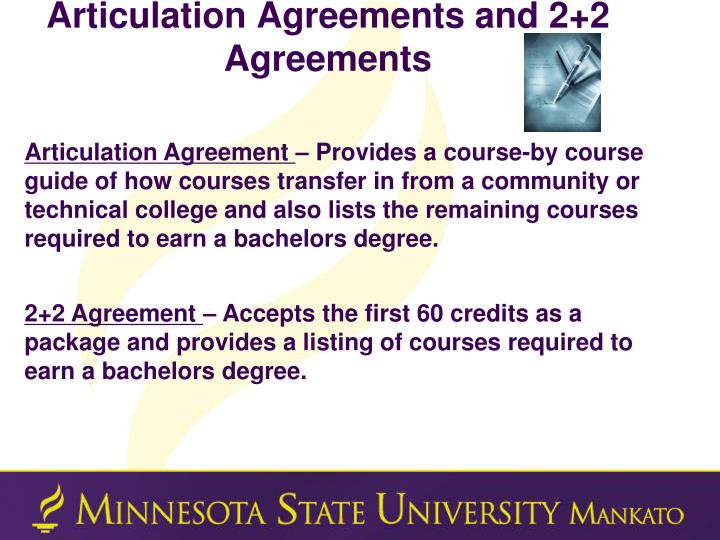 Articulation Agreements and 2+2 Agreements