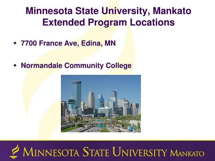 Minnesota State University, Mankato Extended Program Locations