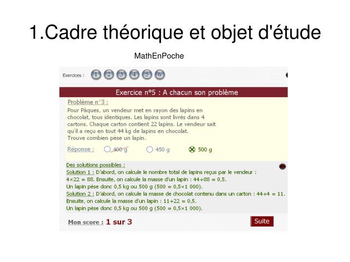 1.Cadre théorique et objet d'étude