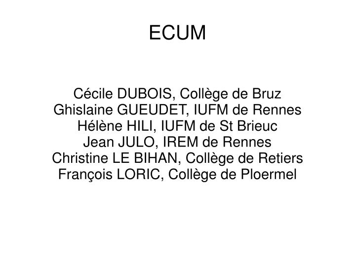 Cécile DUBOIS, Collège de Bruz