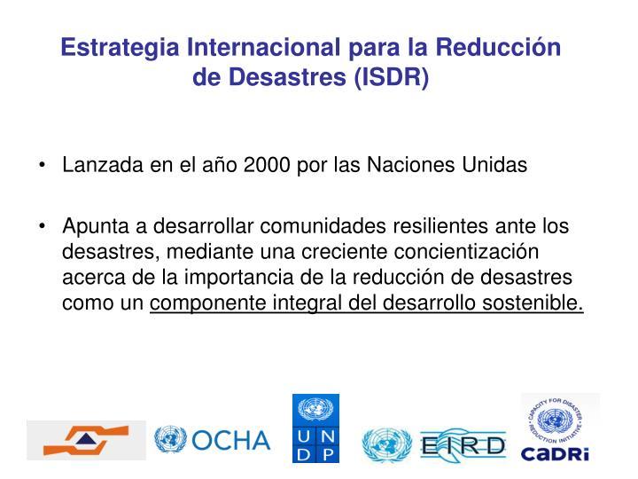 Lanzada en el año 2000 por las Naciones Unidas