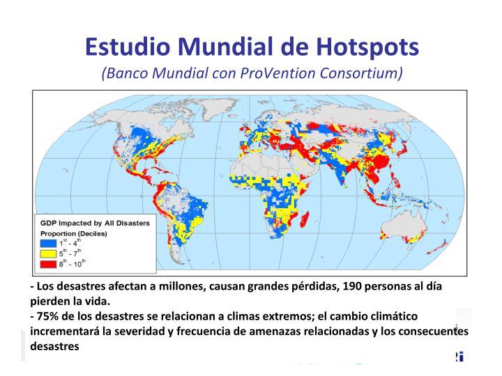 Estudio Mundial de Hotspots