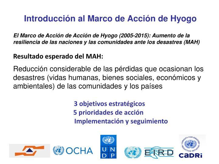 Introducción al Marco de Acción de Hyogo
