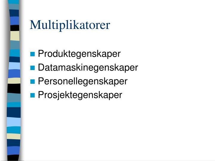 Multiplikatorer