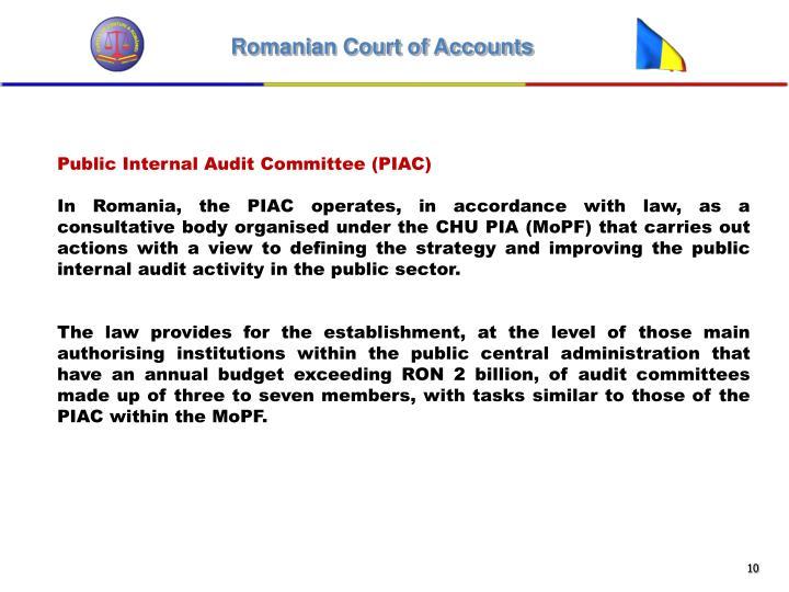 Public Internal Audit Committee (PIAC)