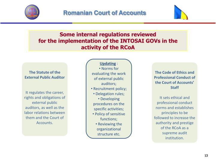Some internal regulations reviewed