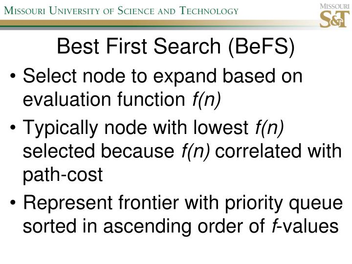 Best First Search (BeFS)