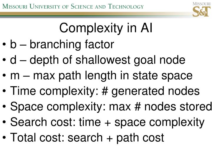 Complexity in AI