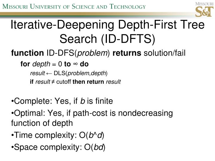 Iterative-Deepening Depth-First Tree Search (ID-DFTS)