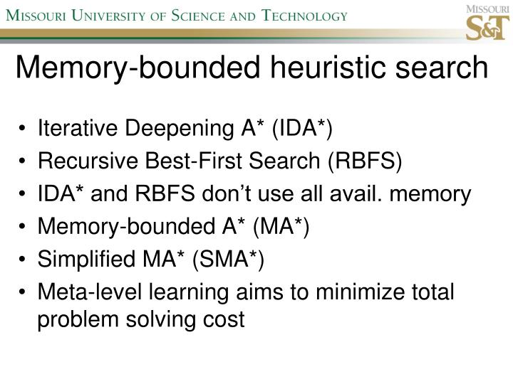Memory-bounded heuristic search
