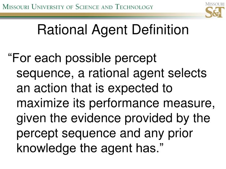 Rational Agent Definition