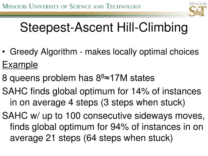 Steepest-Ascent Hill-Climbing