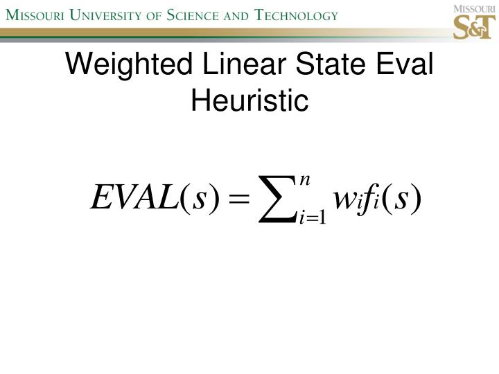 Weighted Linear State Eval Heuristic