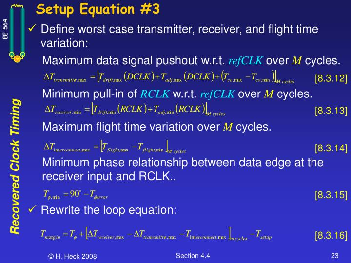 Setup Equation #3