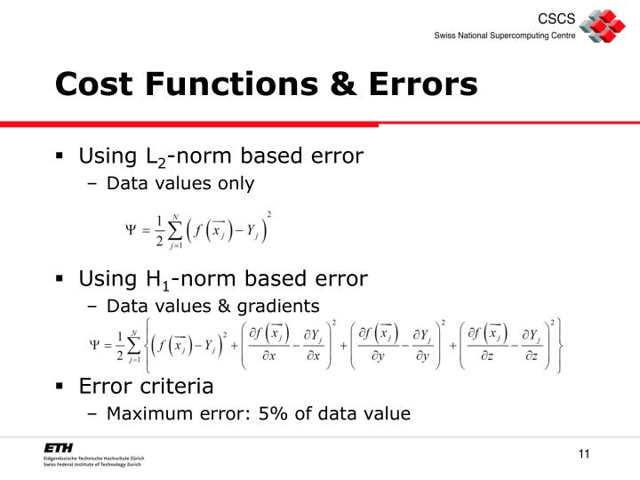 Cost Functions & Errors