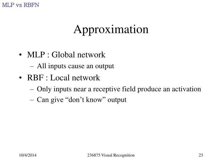 MLP vs RBFN