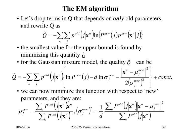 The EM algorithm
