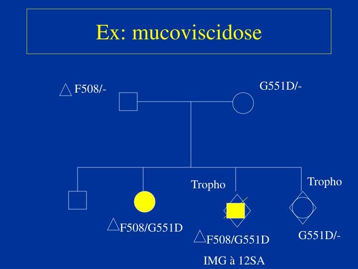 Ex: mucoviscidose