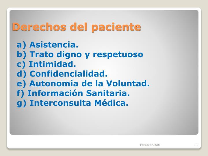 a) Asistencia.