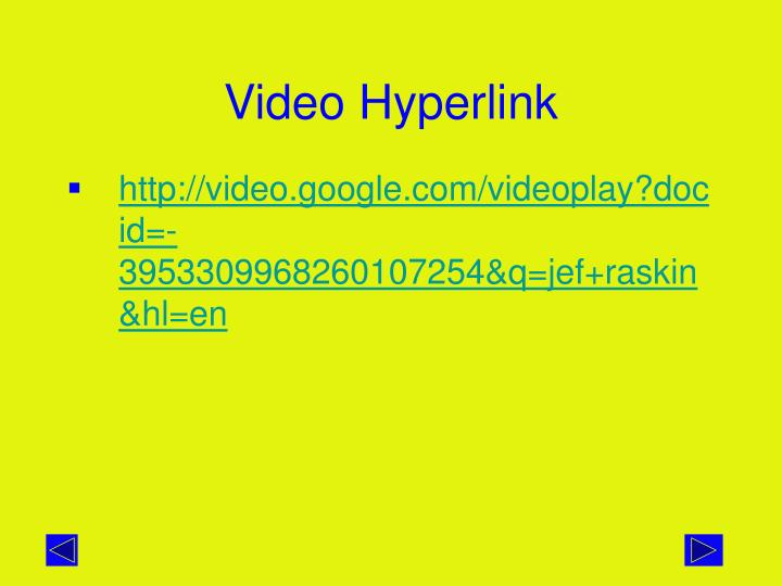 Video Hyperlink