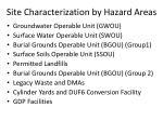 site characterization by hazard areas