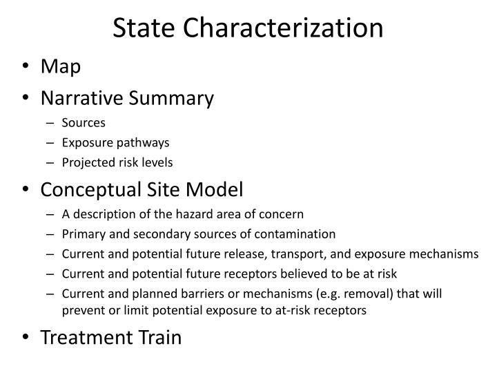 State Characterization