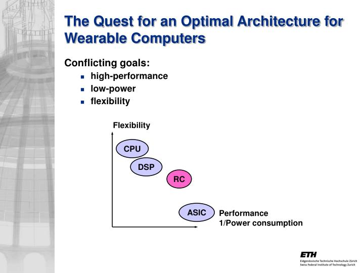 The Quest for an Optimal Architecture for Wearable Computers