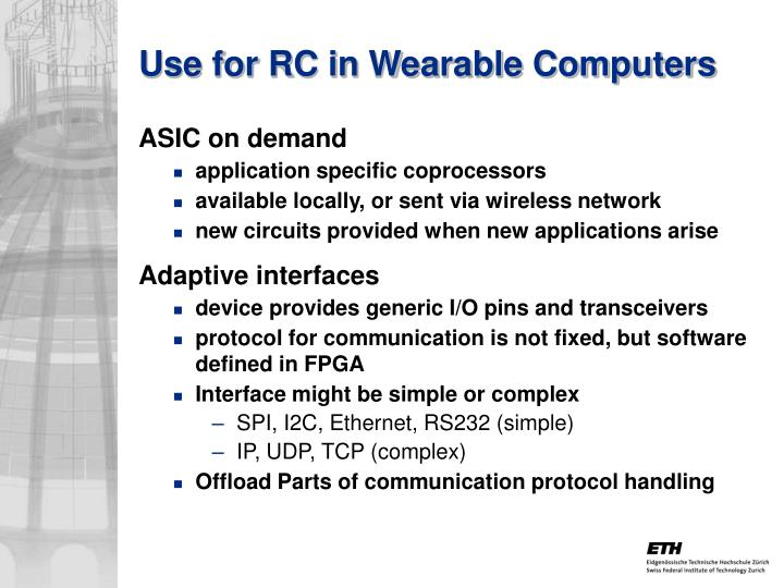 Use for RC in Wearable Computers