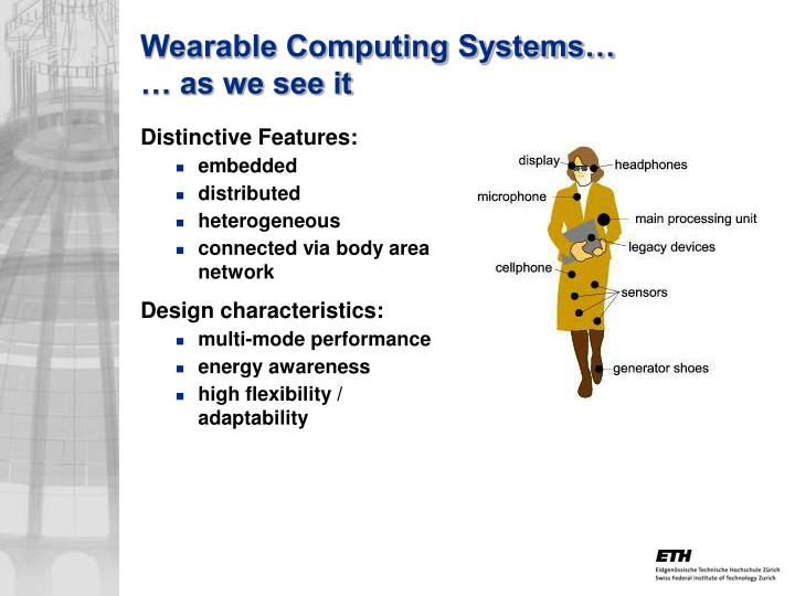 Wearable Computing Systems…