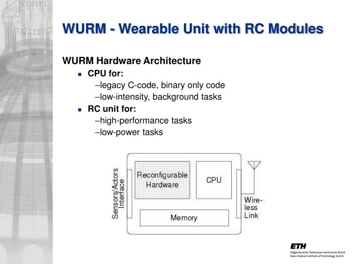 WURM - Wearable Unit with RC Modules