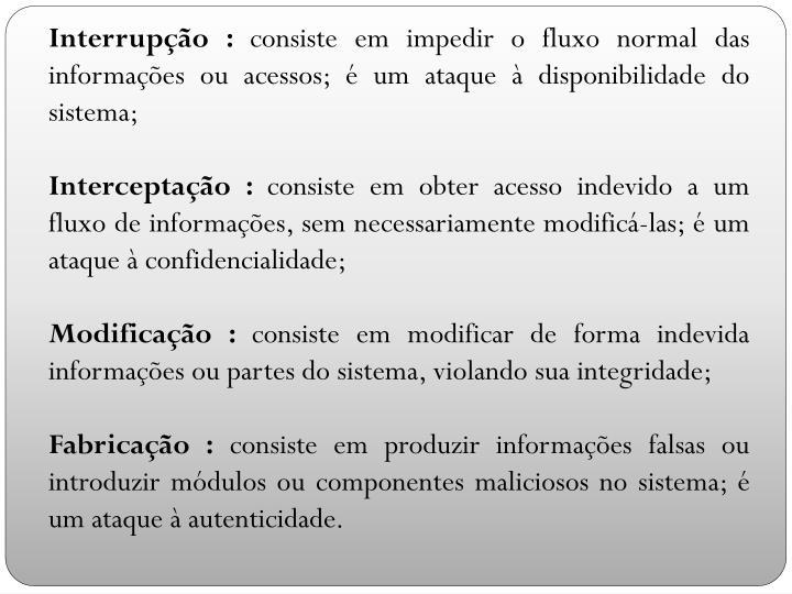 Interrupção :