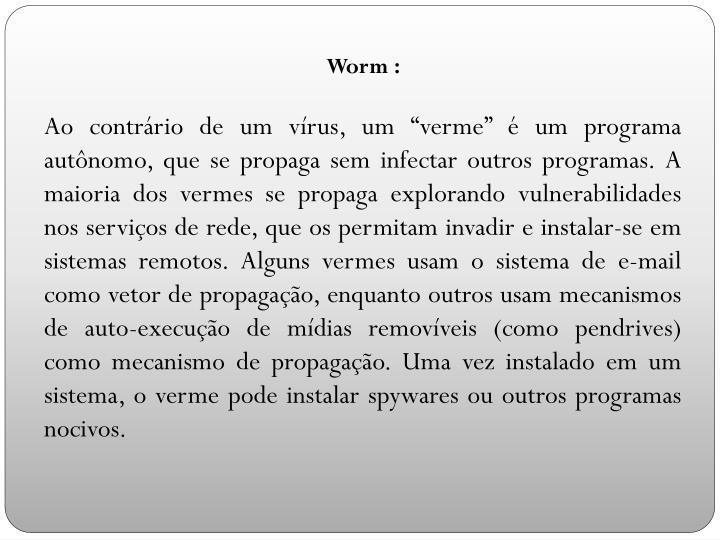 Worm :