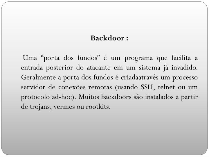 Backdoor :