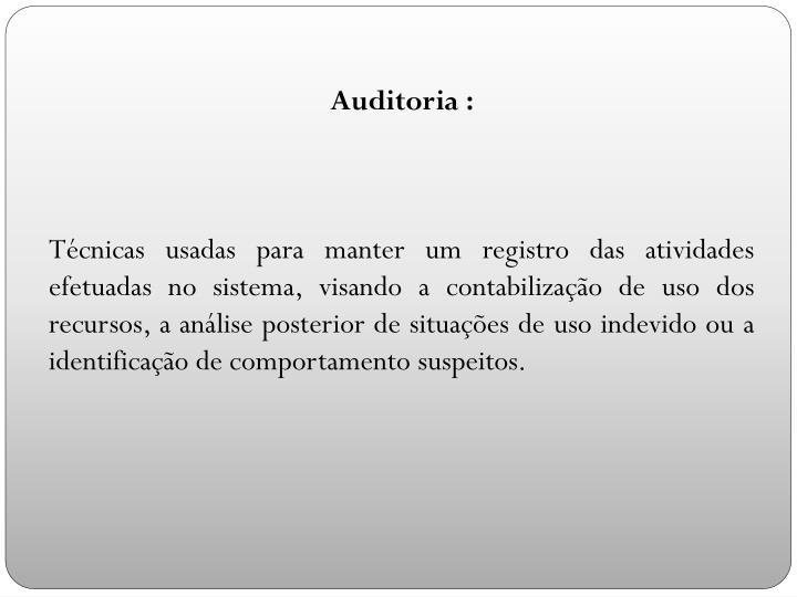 Auditoria :