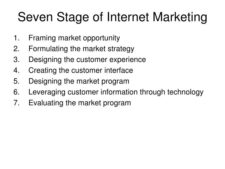 Seven Stage of Internet Marketing