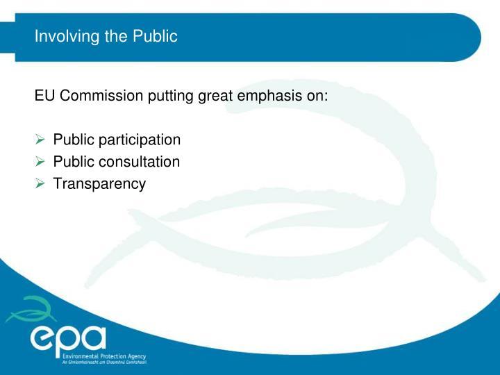 Involving the Public