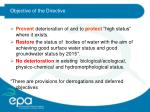 objective of the directive