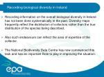 recording biological diversity in ireland