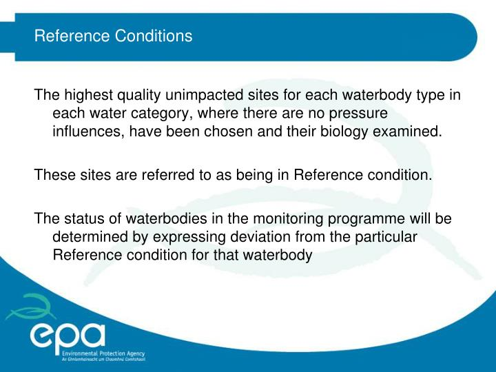 Reference Conditions
