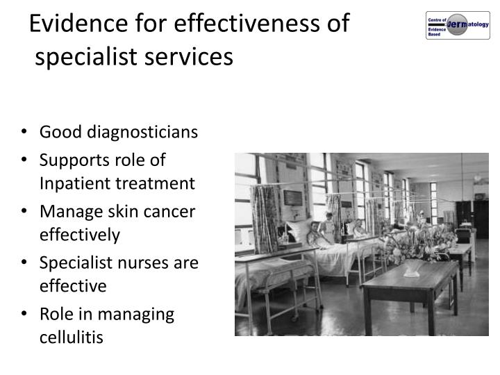 Evidence for effectiveness of