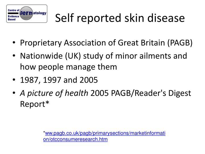 Self reported skin disease