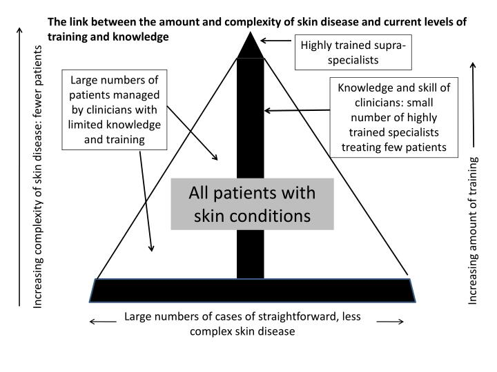 The link between the amount and complexity of skin disease and current levels of training and knowledge