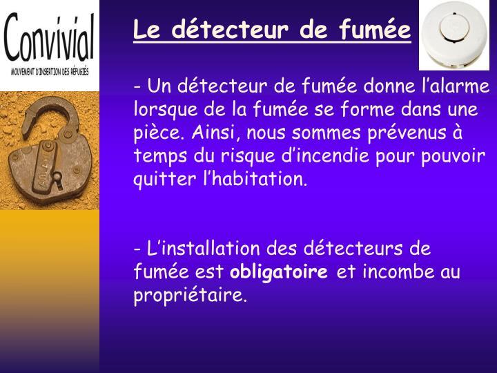 Ppt formation information logement powerpoint presentation id 5139974 - Detecteur de fumee obligatoire ...