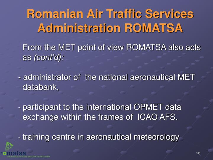 Romanian Air Traffic Services Administration ROMATSA
