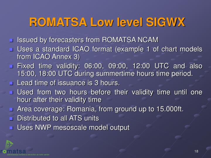 ROMATSA Low level SIGWX