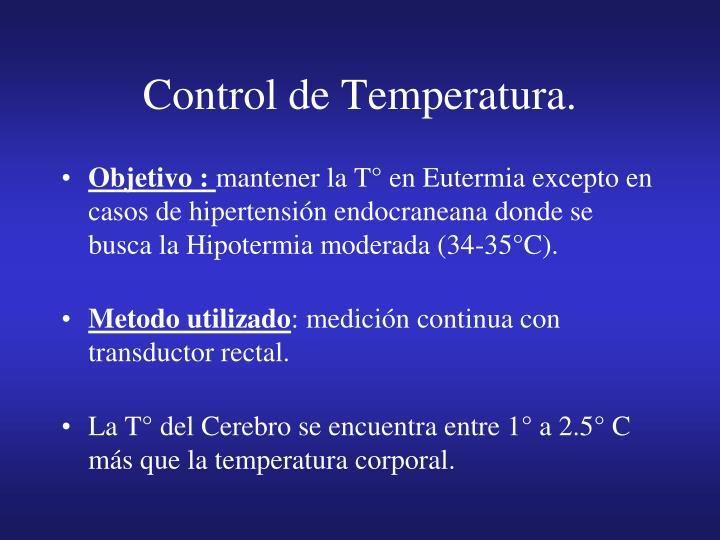 Control de Temperatura.