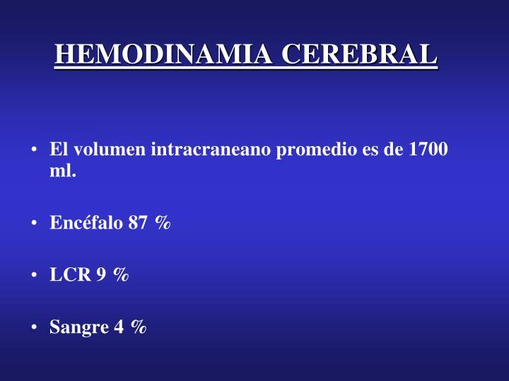 HEMODINAMIA CEREBRAL
