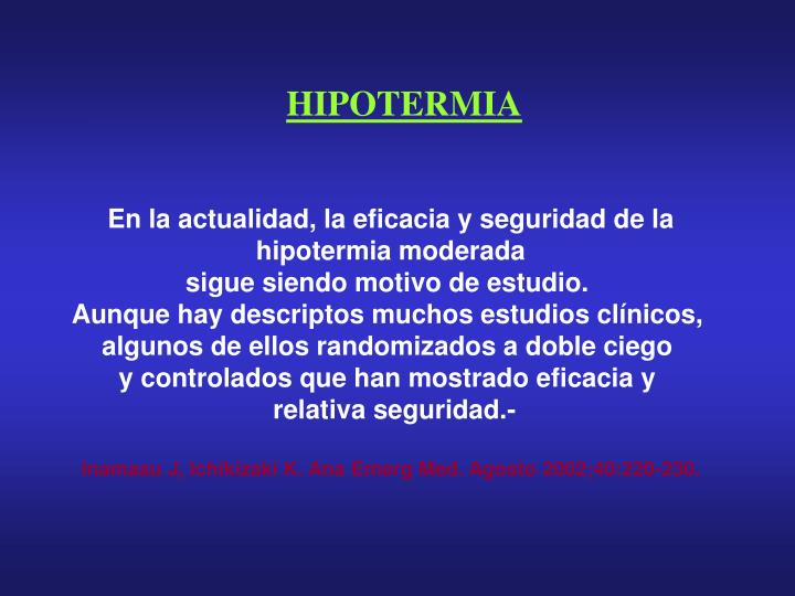 HIPOTERMIA